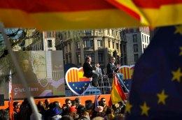 José Manuel Villegas y Francesc de Carreras en la celebración de Día de la Constitución de Ciudadanos en Barcelona. Foto: Asli Yarimoglu